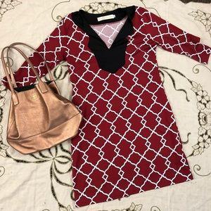 Tracy Negoshian mod style red dress
